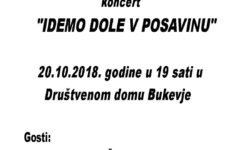 """Pozivamo Vas na koncert """"IDEMO DOLE V POSAVINU"""""""