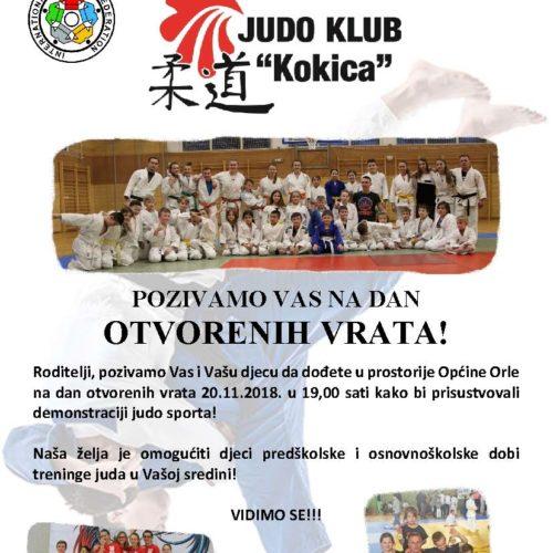 Judo klub Kokica Vas poziva na dan otvorenih vrata