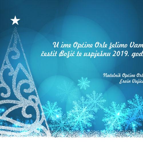U ime Općine Orle želimo Vam čestit Božić te uspješnu 2019. godinu!