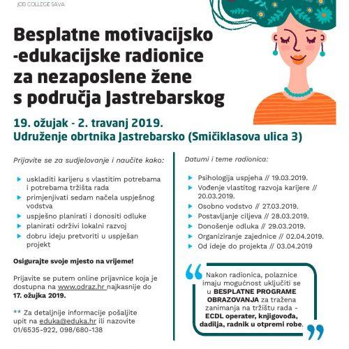 POZIV NEZAPOSLENIMA za besplatne programe osposobljavanja i edukacija