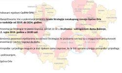 Prezentacija Strategije sveukupnog razvoja Općine Orle za razdoblje od 2019. do 2024. godine