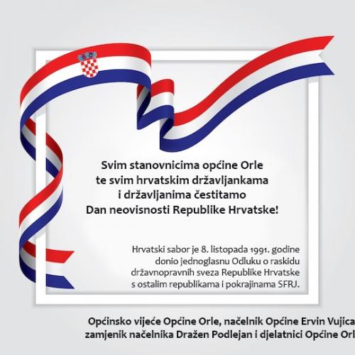 Čestitamo Dan neovisnosti Republike Hrvatske!