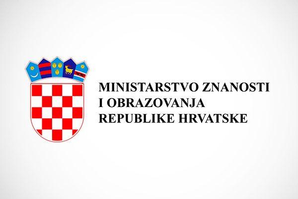 OBAVIJEST MINISTARSTVA ZNANOSTI I OBRAZOVANJA REPUBLIKE HRVATSKE